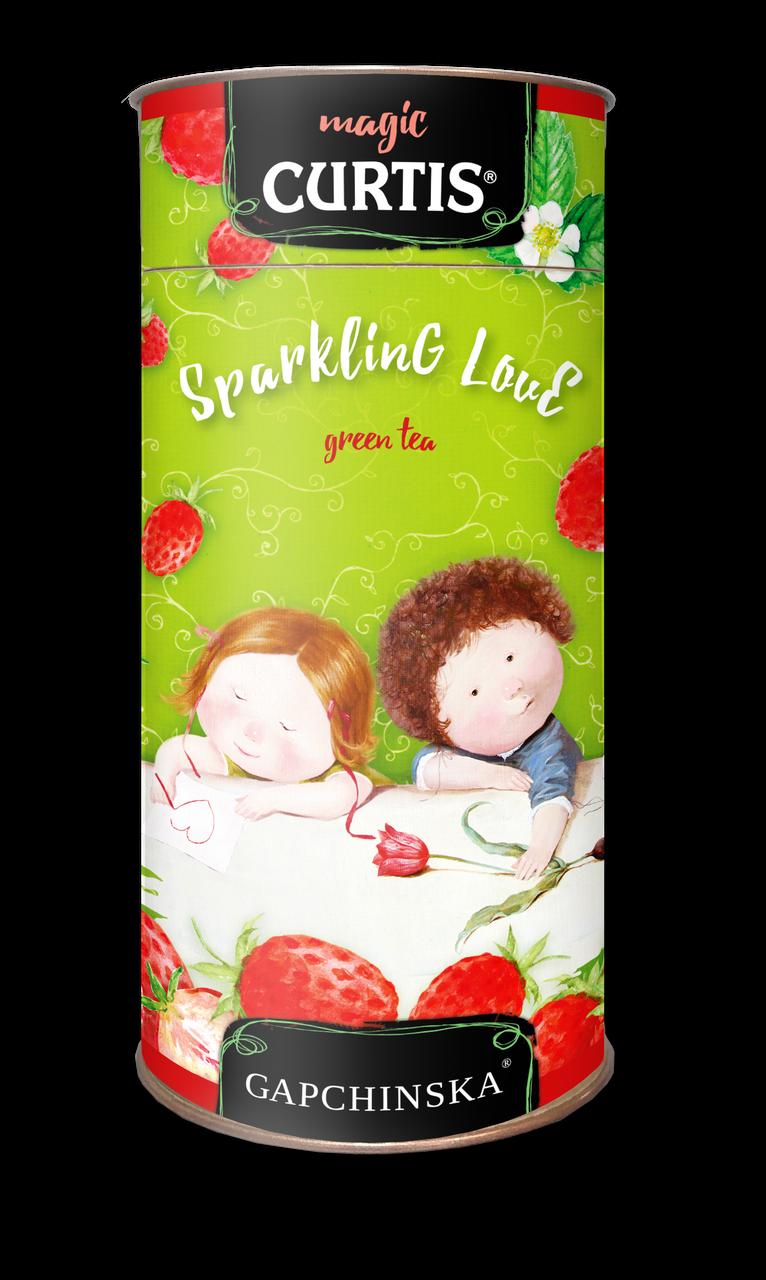 """Чай зеленый листовой со вкусом земляники Кертис (Curtis) """"Sparkling Love"""" 80 г., тубус"""