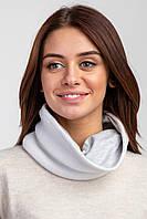 Объемный пушистый баф CUTE белого цвета с трикотажной подкладкой