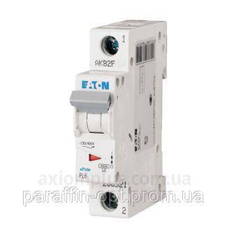 Автоматический выключатель EATON PL6-C20/1, фото 2