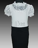 Красивая школьная блузка для девочки