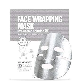 Маска-обертывание для лица с Гиалуроновой кислотой Berrisom Face Wrapping Mask Collagen Solution 80