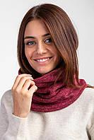Объемный трикотажный баф CUTE бордового цвета