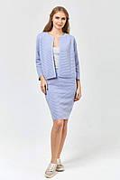 Костюм (пиджак+юбка) теплый вязаный, свободный джемпер, р.44-48, код 5527М