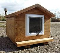 Домик для кота 30х40 с дверками (утепленная)