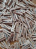 Декоративные деревянные мини прищепки, 3 см