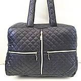 Женские стеганные сумки (СИНИЙ-ЗОЛОТО)26*35см, фото 2