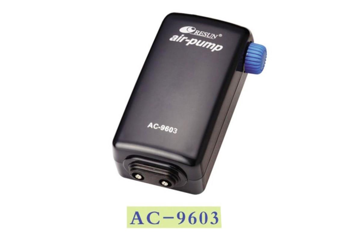 Двухканальный воздушный компрессор для аквариума Resun AC-9603 (до 400 л)