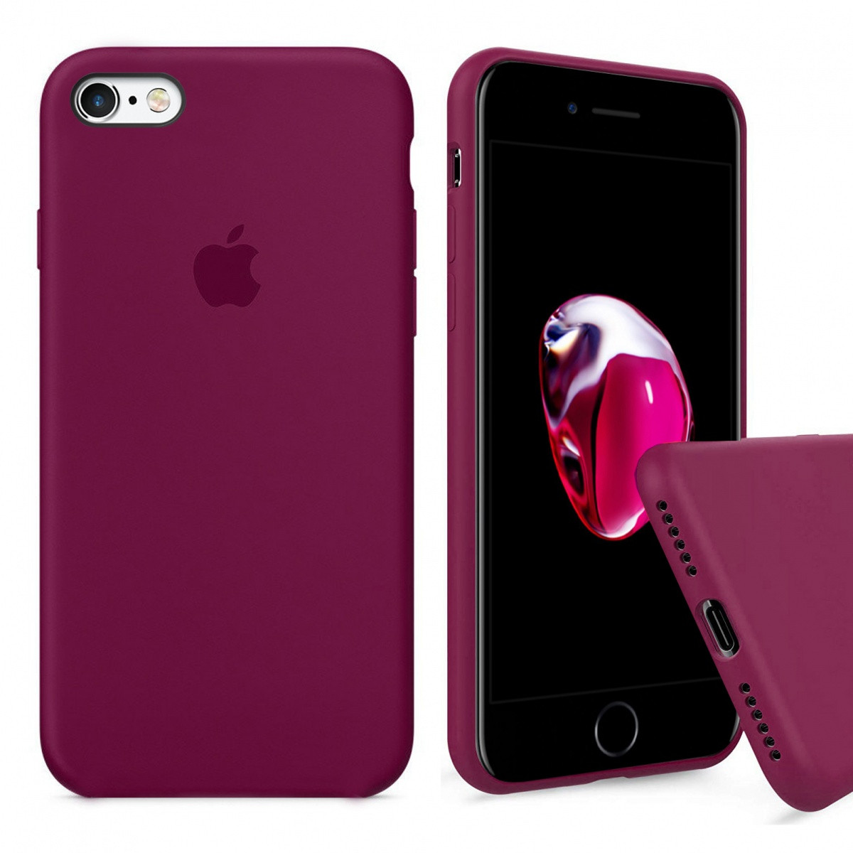 Samsung / Чехол накладка xCase для iPhone 6/6s Silicone Case Full rose red