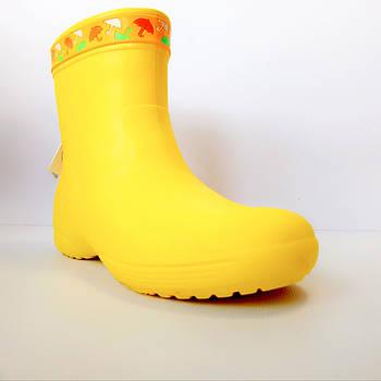 Желтые сапоги на слякоть и дождь из пены р. 41 стелька 26,5 см. Резиновые сапоги.