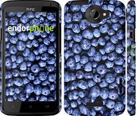 """Чехол на HTC One X+ Черника """"851c-69"""""""