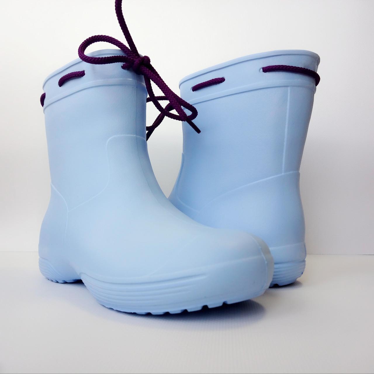 Синие сапоги на слякоть и дождь р. 36,37,38, 39, 40, 41 Резиновые сапоги. Сделано в Украине.