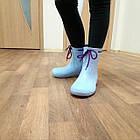 Синие сапоги на слякоть и дождь р. 36,37,38, 39, 40, 41 Резиновые сапоги. Сделано в Украине., фото 2