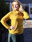 Юбка из плотного замша малахитовая Ю 010-1 . зеленая теплая осень-зима, фото 7