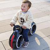 Детский Беговел Tron Bike с Led подсветкой Bluetooth и Динамиками Толокар Чёрно-Красный, фото 2
