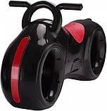 Детский Беговел Tron Bike с Led подсветкой Bluetooth и Динамиками Толокар Чёрно-Красный, фото 3