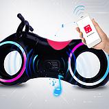 Детский Беговел Tron Bike с Led подсветкой Bluetooth и Динамиками Толокар Чёрно-Красный, фото 4