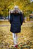 Куртка парка с ярким мехом енота, фото 2