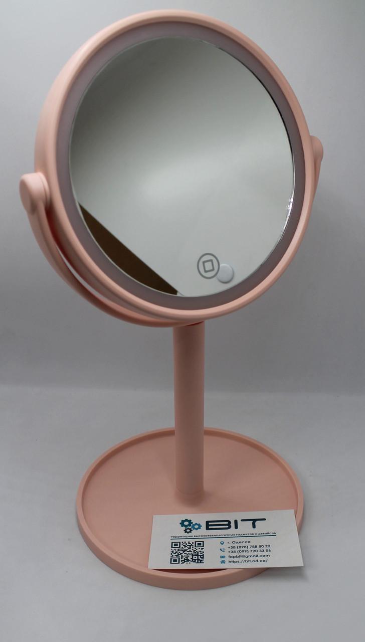 Зеркало для макияжа LED Mirror с LED-подсветкой, сенсорное управление 00058