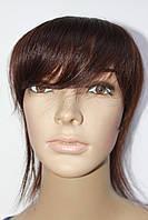 Накладка на волосы из натуральных волос с челкой