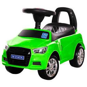 Машинка каталка-толокар Audi Bambi M 3147A с MP3Ауди, зеленый