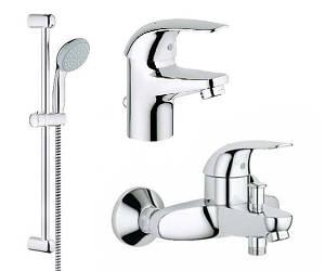Набор смесителей для ванны Grohe EuroEco 123226