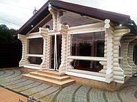 Штора ПВХ для веранды с прозрачными окнами