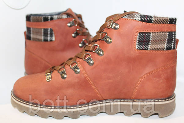 Рыжие кожаные ботинки, фото 2