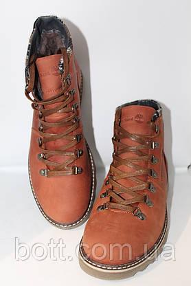 Рыжие кожаные ботинки, фото 3