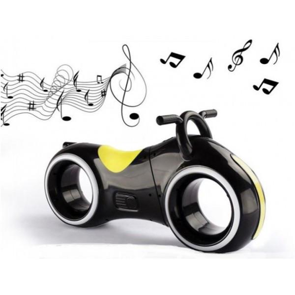 Детский Беговел Tron Bike с Led подсветкой Bluetooth и Динамиками Толокар Чёрно-Желтый
