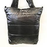 Дутые СПОРТИВНЫЕ сумки под пуховик Adidas (ЧЕРНЫЙ-ГОЛУБОЙ)34*35см, фото 5