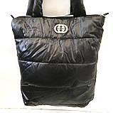 Дутые СПОРТИВНЫЕ сумки под пуховик Adidas (ЧЕРНЫЙ-ГОЛУБОЙ)34*35см, фото 7