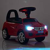 Машинка каталка-толокар BMW Bambi M 3147B с MP3, синий, фото 4