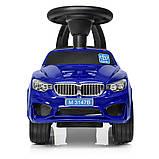 Машинка каталка-толокар BMW Bambi M 3147B с MP3, синий, фото 6