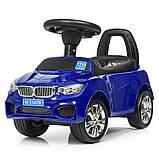 Машинка каталка-толокар BMW Bambi M 3147B с MP3, синий, фото 3