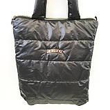 Дутые СПОРТИВНЫЕ сумки под пуховик Fashion (ЧЕРНЫЙ)34*35см, фото 9