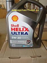Масло Shell Helix Ultra ECT C3 5w-30, моторное, синтетика, 4 литра (производитель Германия)