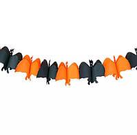 Гирлянда Летучая Мышь Декор бумажный для Хэллоуина, фото 1