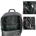 Светящийся городской рюкзак Глаза Eyes с usb зарядкой + замок 35 л Чёрный, фото 4