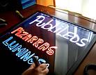 FLUORECENT BOARD 30*40 c фломастером и салфеткой | Светодиодная led доска 30*40 (c фломастером и салфеткой), фото 4