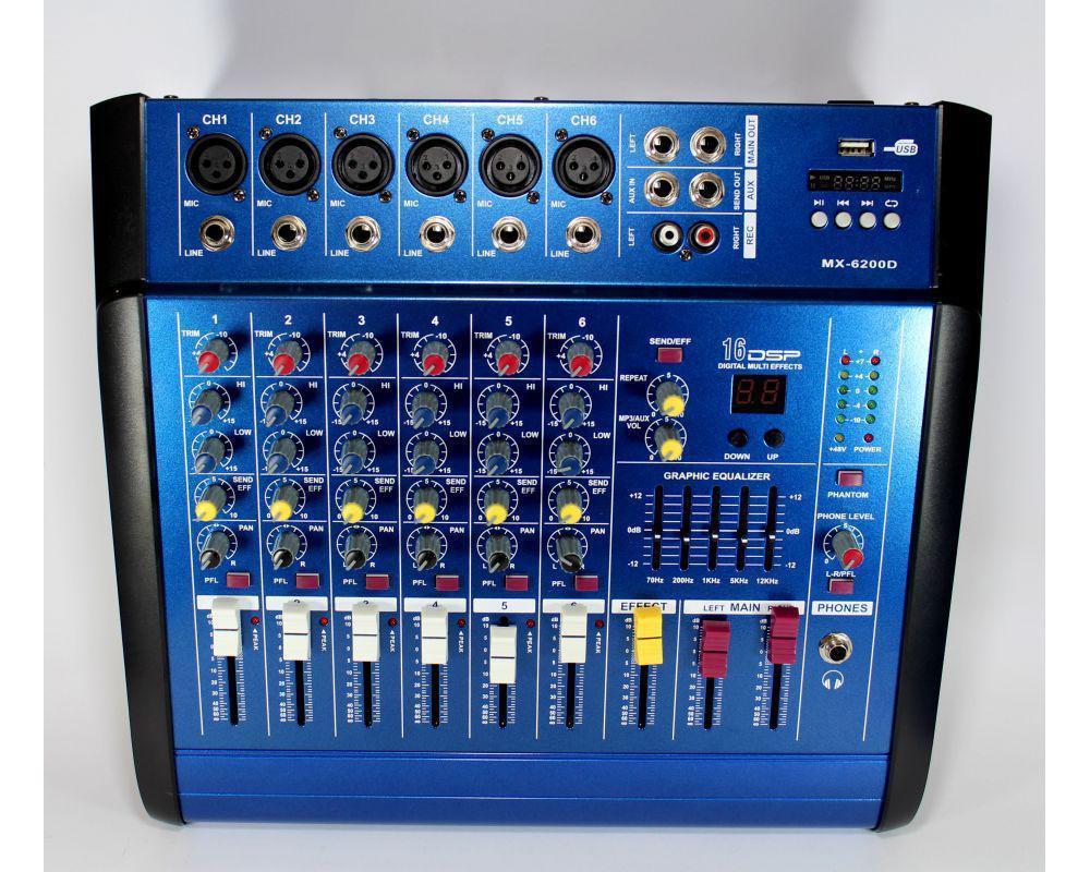 Аудио микшер Mixer BT6300D | Микшерный пульт | Усилитель звука