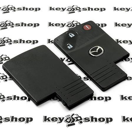 Корпус смарт ключа Mazda (Мазда) 2 кнопки + 1 (panic), (без лезвия), фото 2