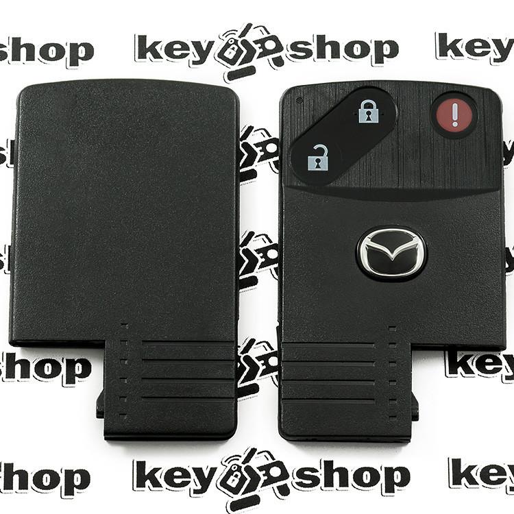 Корпус смарт ключа Mazda (Мазда) 2 кнопки + 1 (panic), (без лезвия)