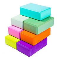 Йога блок - кирпич для йоги, опорный блок (EVA), инвентарь - йогаблок