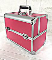 Кейс для косметики розовый (эко-кожа)