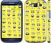 "Чехол на Samsung Galaxy S3 i9300 Губка Боб. Мордашки ""2346c-11"""