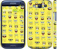 "Чехол на Samsung Galaxy S3 Duos I9300i Губка Боб. Мордашки ""2346c-50"""
