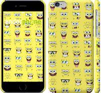 """Чехол на iPhone 6 Губка Боб. Мордашки """"2346c-45"""""""