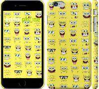 """Чехол на iPhone 6 Plus Губка Боб. Мордашки """"2346c-48"""""""
