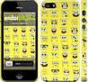"""Чехол на iPhone 5s Губка Боб. Мордашки """"2346c-21"""""""