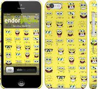 """Чехол на iPhone 5c Губка Боб. Мордашки """"2346c-23"""""""